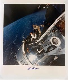 Apollo 9 NASA Astronaut David Scott, Chromogenic Color Photo Mounted on Board