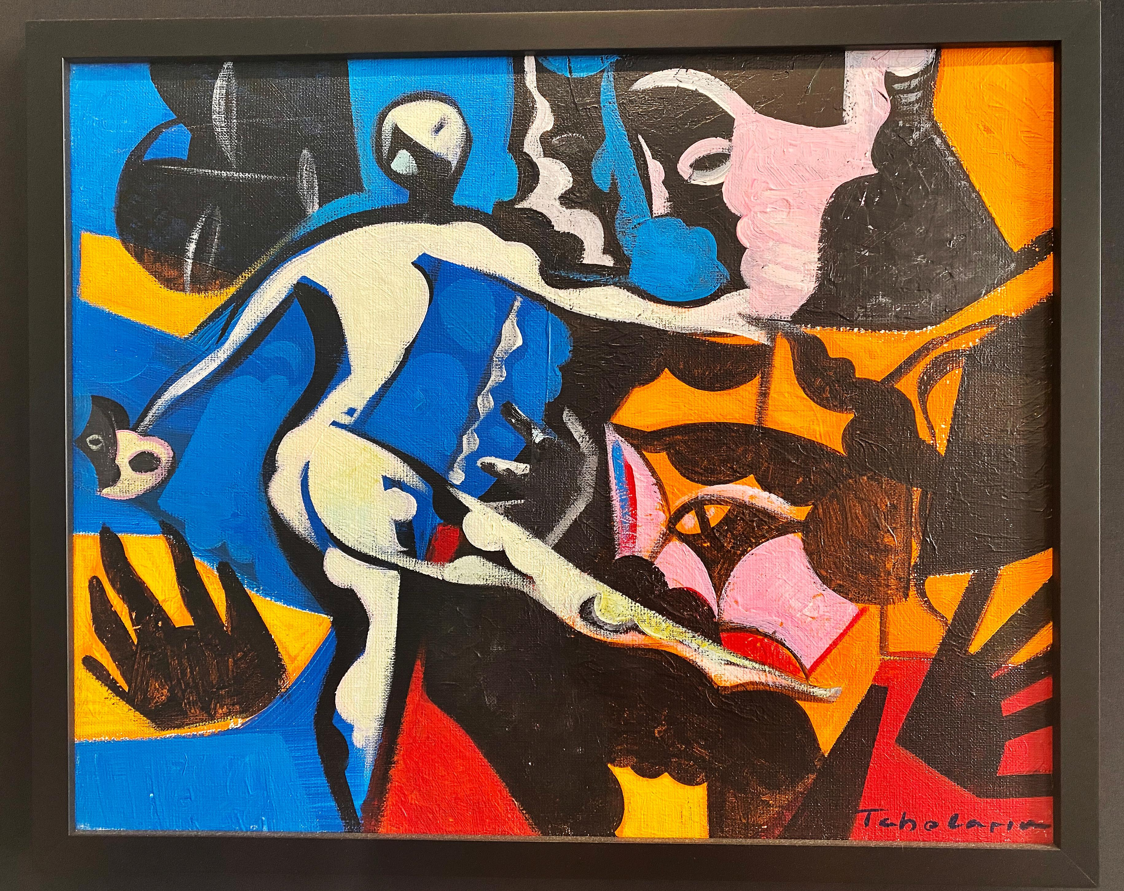 Dance With Me, Oil and Acrylic on Canvas, European Modernist Tradition