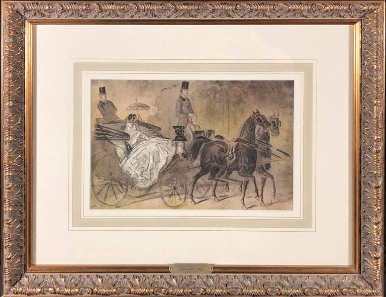 Carriage Ride in the Park - Art by Constantin Ernest Adolphe Hyacinthe Guys