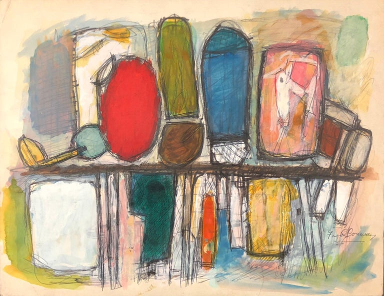 Frederick Conway Abstract Drawing - Golf Bags