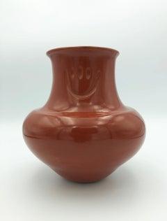 Santa Clara Pueblo Pottery, Redware Pot