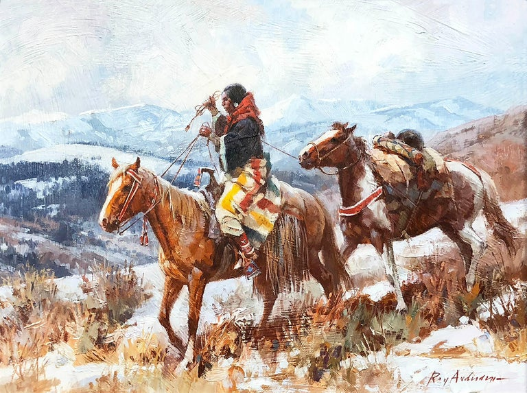 Old High Country Woman - Painting by Roy Andersen