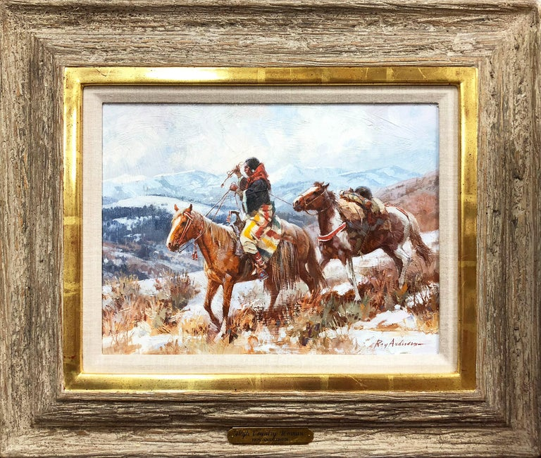 Roy Andersen Figurative Painting - Old High Country Woman