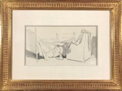 Gentleman Napping in a Chair (Possibly for Ichabod Crane or other Illustration)