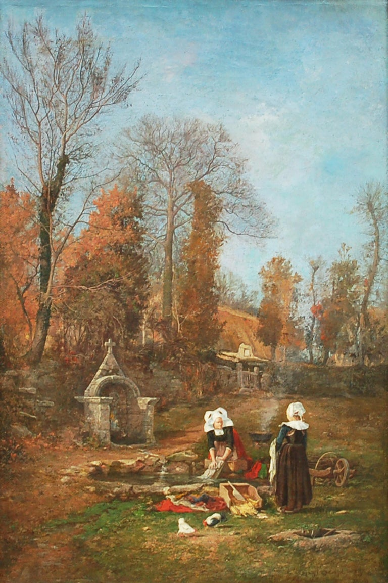 Clement Swift Landscape Painting - Breton Chores