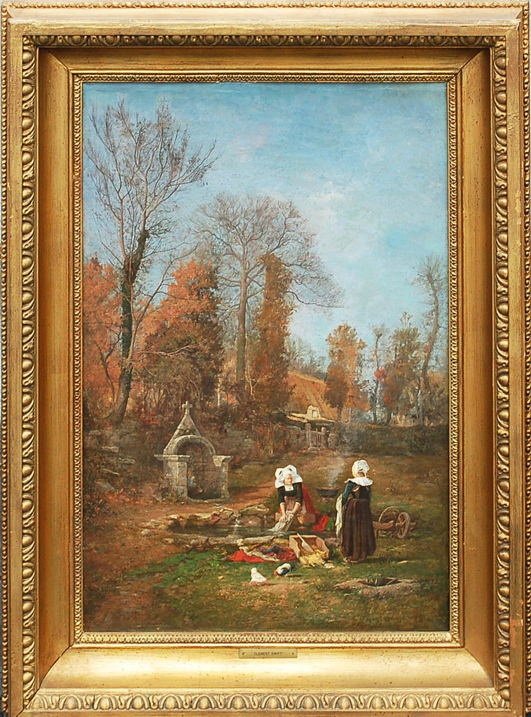 Breton Chores - Painting by Clement Swift