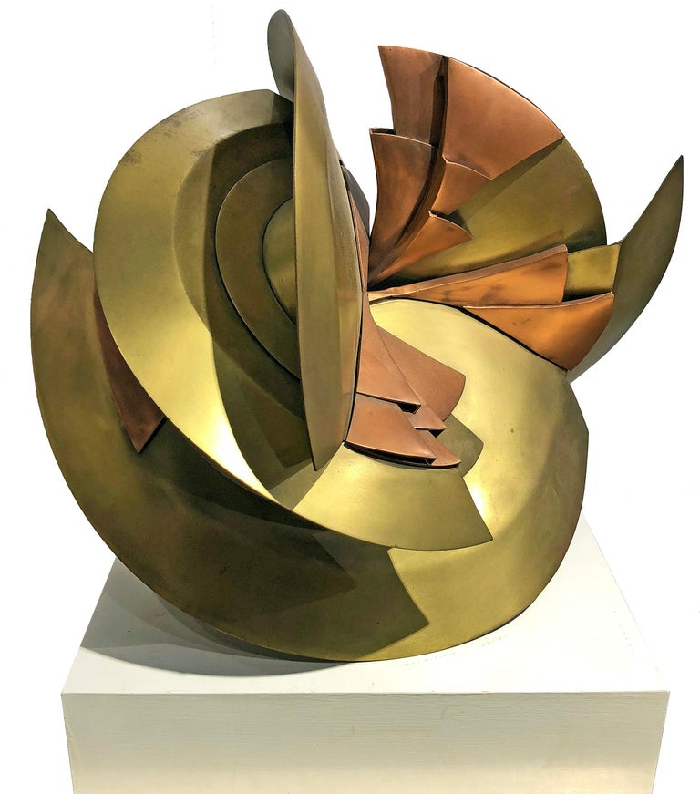 Heloise Crista (1926-2018) Peace Brass and Copper approx. 15 x 17 x 10 inches  Heloise Crista, Acclaimed Sculptor and Frank Lloyd Wright Apprentice  FRANK LLOYD WRIGHT FOUNDATION  JUN 20, 2019  Heloise was born in Kobe, Japan on March 9, 1926. She