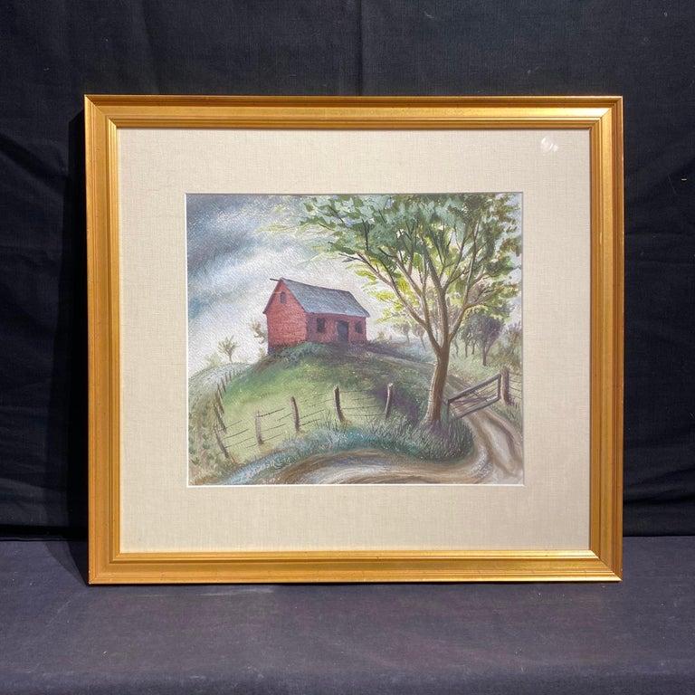 Hilltop Barn - Art by Robert Elton Tindall