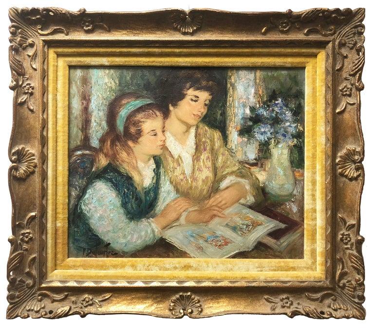 La Lecture - Painting by Pierre Duteurtre