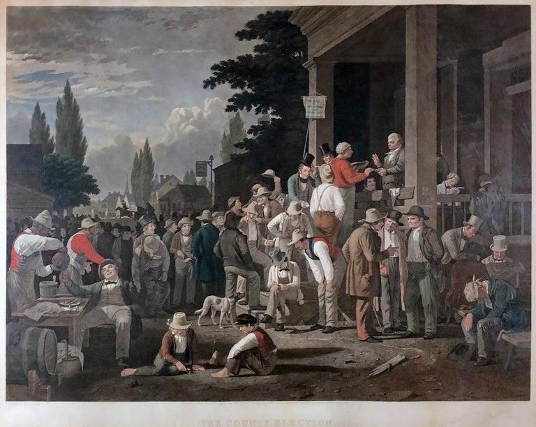George Caleb Bingham Figurative Print - The County Election