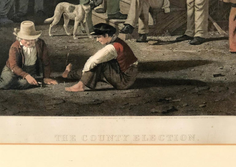 The County Election - American Realist Print by George Caleb Bingham