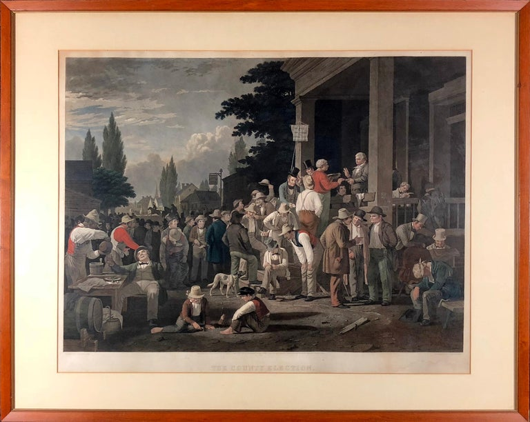 The County Election - Print by George Caleb Bingham