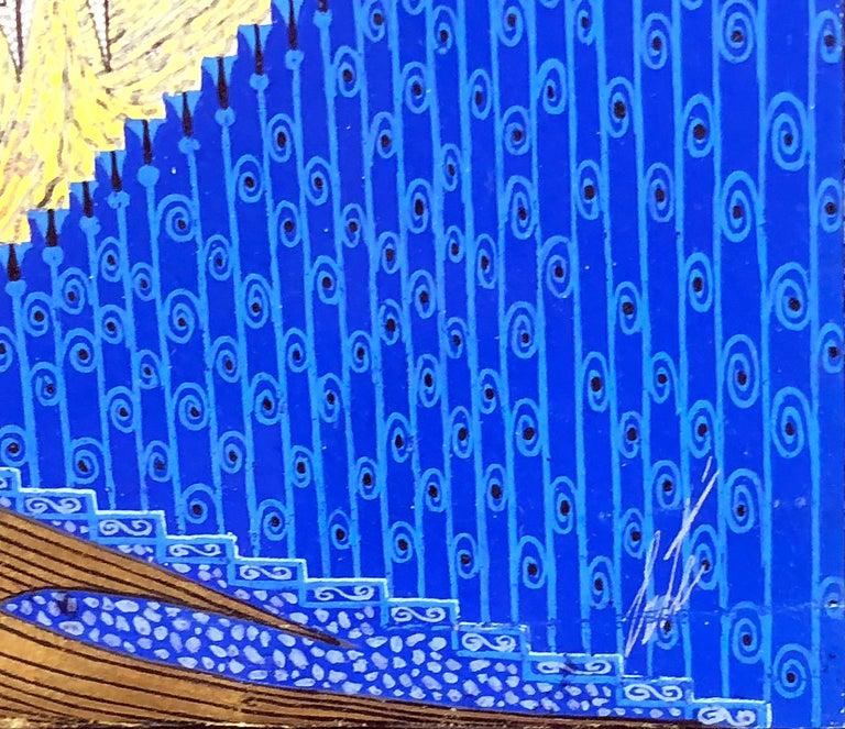 Rhapsody In Blues (Scenegrafia Finale) - Art Deco Painting by Erté