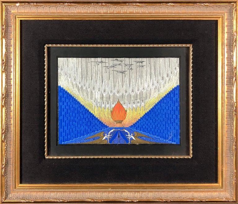 Rhapsody In Blues (Scenegrafia Finale) - Painting by Erté