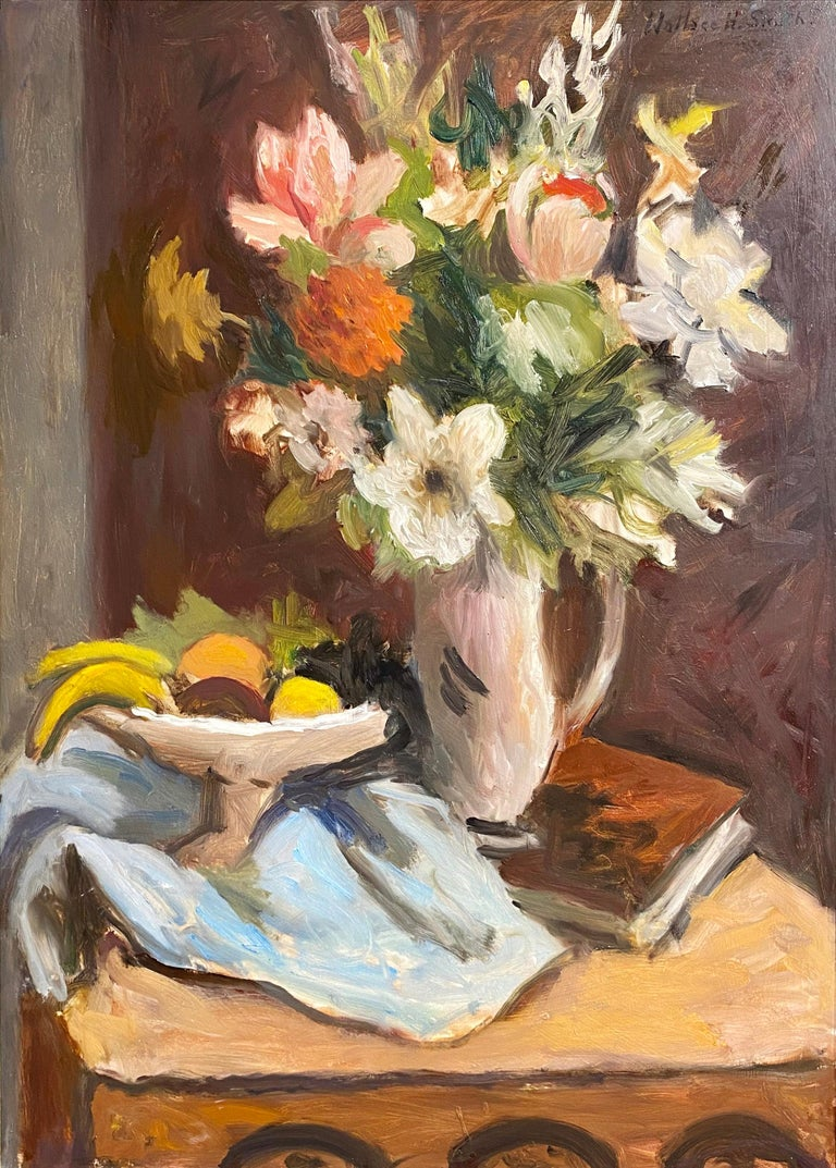 Wallace Herndon Smith Still-Life Painting - Still Life of Flowers and Fruit