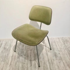 ONE OF A KIND CUSTOM SAGE GREEN LEATHER DCM CHAIR