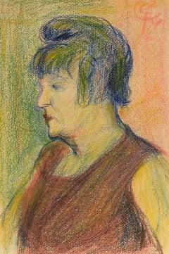 """""""Portrait of La Goulue,"""" Auguste Grass-Mick, pastel, portrait, impressionist"""