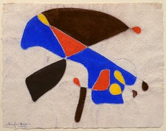"""Abstraction,"" Douglass Morse Howell, mixed media, 1966, handmade paper"