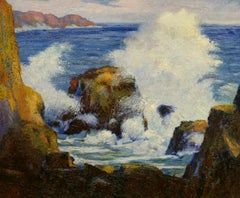 """Sea Spray, Laguna, "" Carl Christian Abel, seascape, California impressionist"