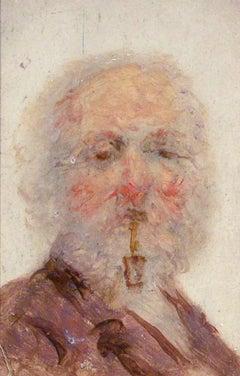 """""""The Poet,"""" Grove Sheldon Gilbert, oil on linen, romantic, portrait, ca 1860-70"""