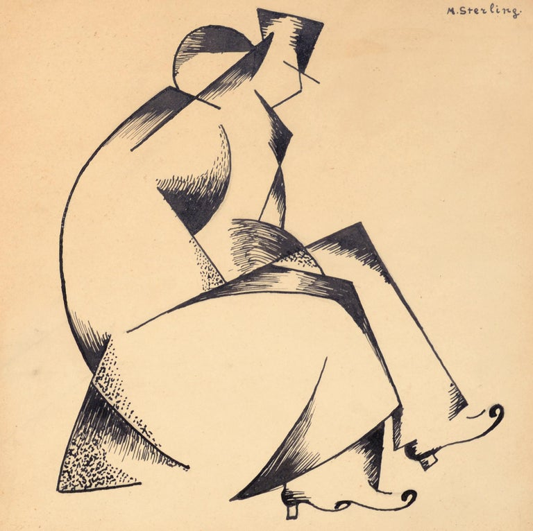 Marc Sterling Figurative Art - Cubist Couple