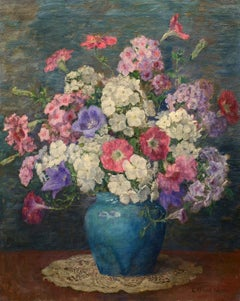 """Summer Bouquet"" Katherine Hulbert, floral still life, impressionism, oil"