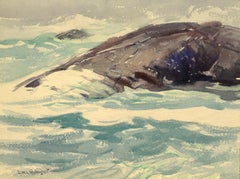"""""""Turquoise Seas,"""" Sears Gallagher, realist, watercolor"""