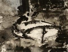 """At Rest,"" William Thon, ink wash, sailboat, modernism, 20th century"