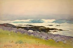 """""""Quiet Morning, Lobster Cove,"""" Sears Gallagher, watercolor, realist, Monhegan"""