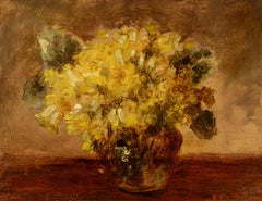 Sweet Cowslips, Anna Alice van Heddeghem, oil, floral still life, Impressionist