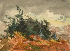 """Autumn Seas,"" Jay Hall Connaway, Watercolor, Monhegan Island, Maine Coast"