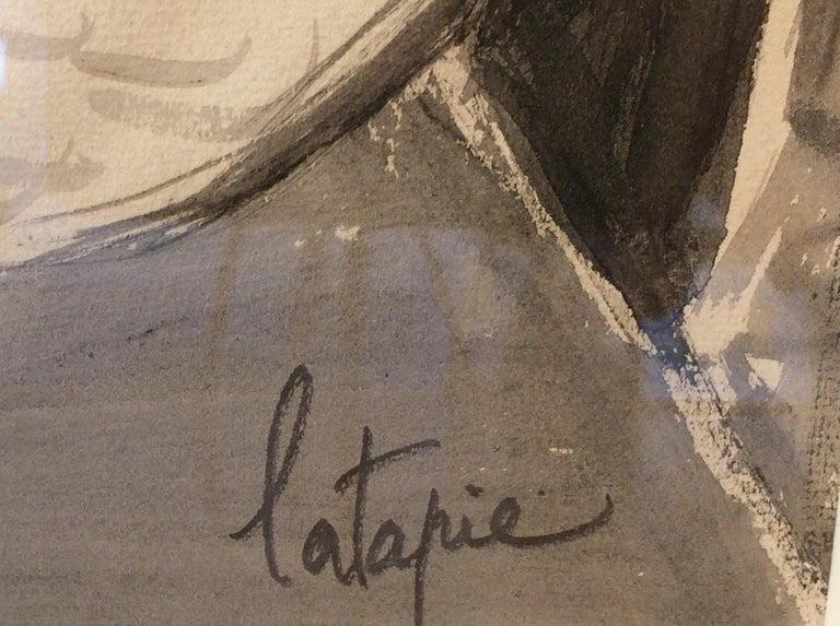 Cubist Nude - Beige Figurative Art by Louis Latapie