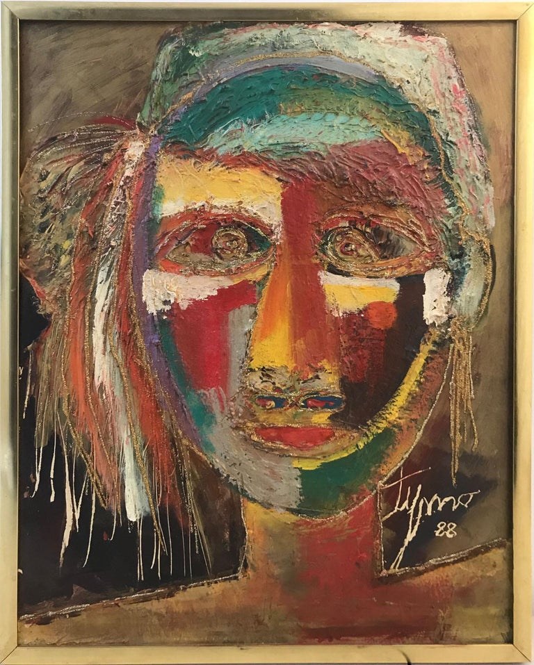 Timothee Pierre (Tymo) Portrait Painting - Indian African Face Woman