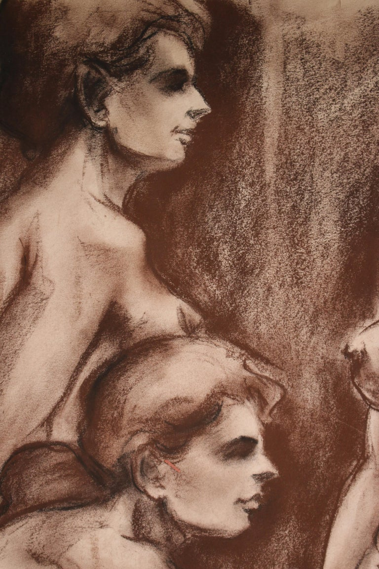 Untitled: Three Nude Females - Academic Art by Unknown