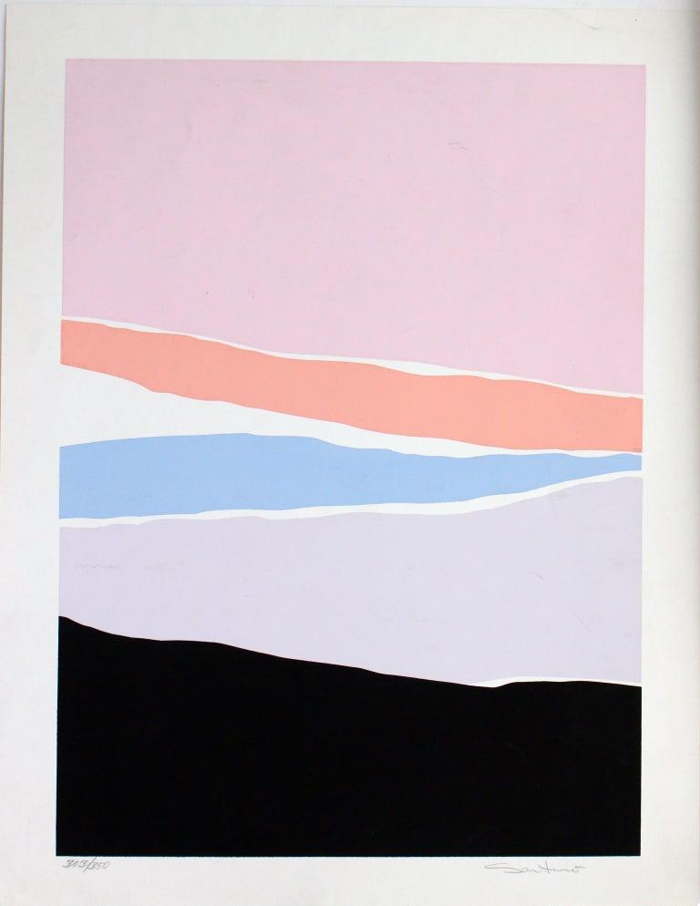Untitled: Lavender, Blue & Pink Serigraph (Edition 303/350) - Print by Santoro