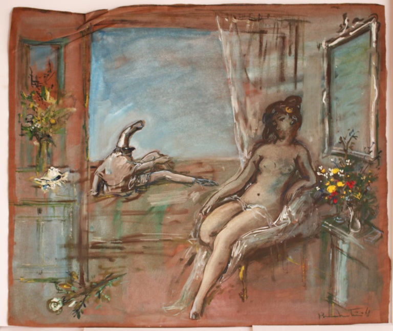 Unknown Figurative Art - Untitled: Seated Nude
