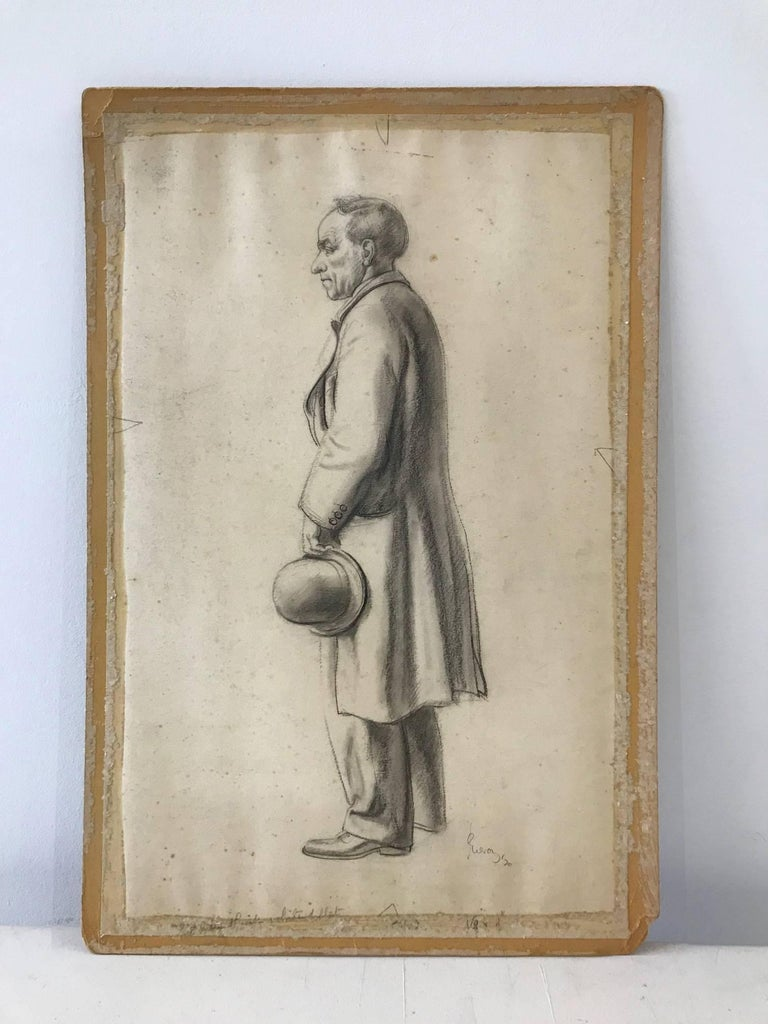 John Gilroy Portrait - Untitled (Sideview of a Gentleman)
