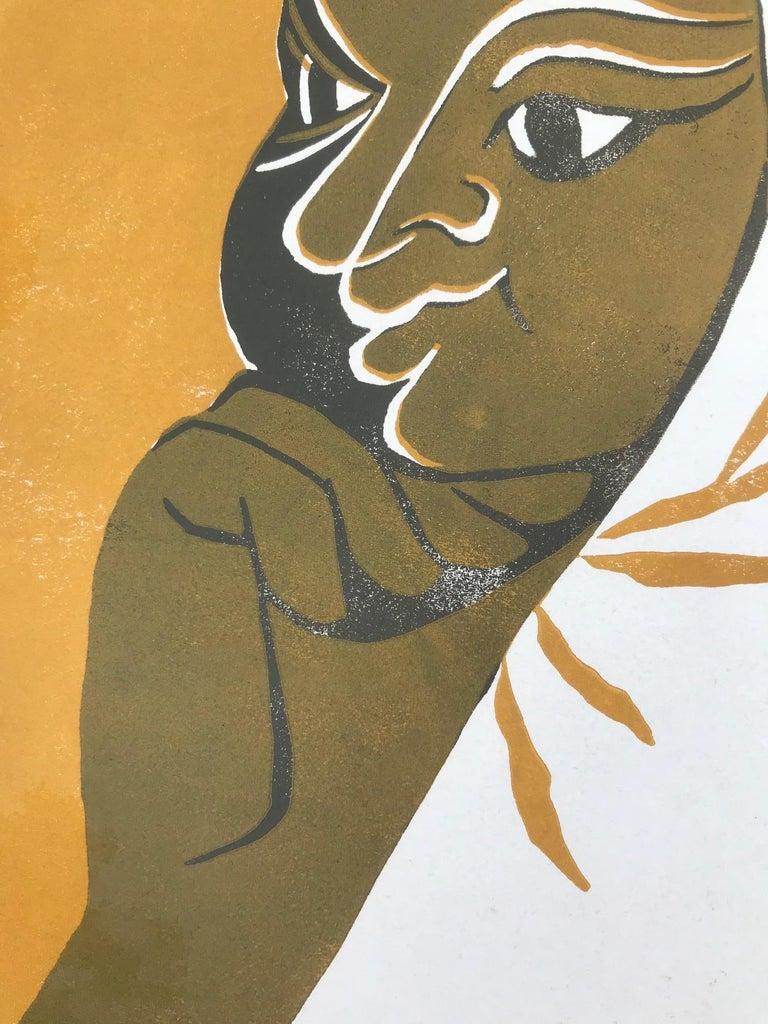 Goldy 1 (Edition 76/100) - Abstract Print by Tassow Brhanu