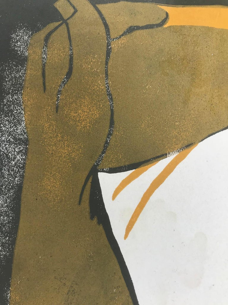 Goldy 1 (Edition 76/100) - Brown Abstract Print by Tassow Brhanu