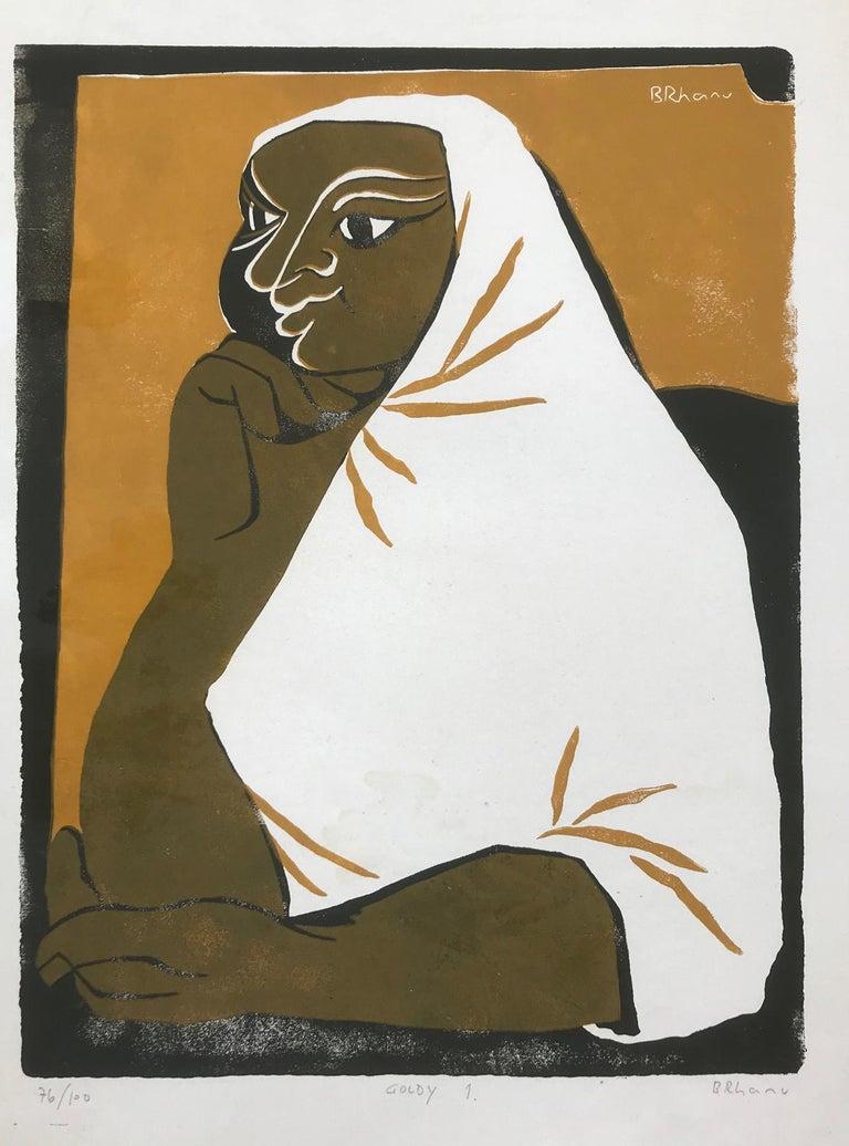 Tassow Brhanu Abstract Print - Goldy 1 (Edition 76/100)