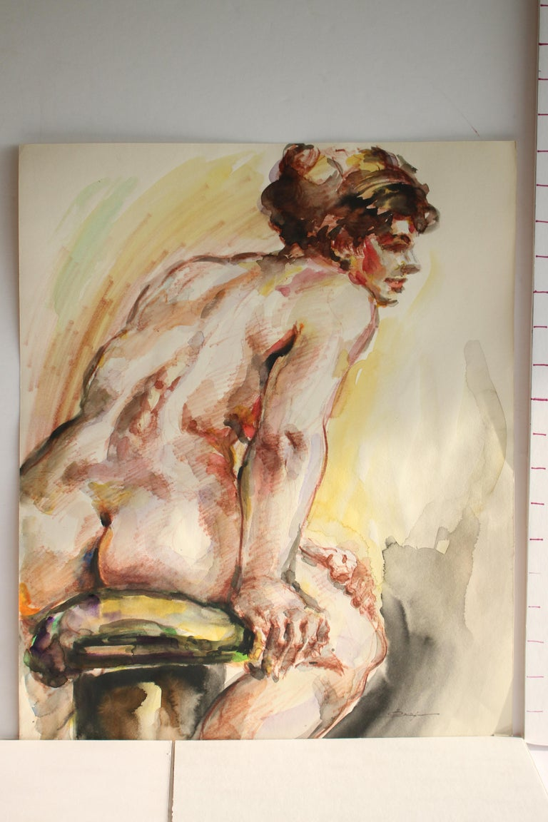 Untitled: Solo Seated Nude For Sale 3