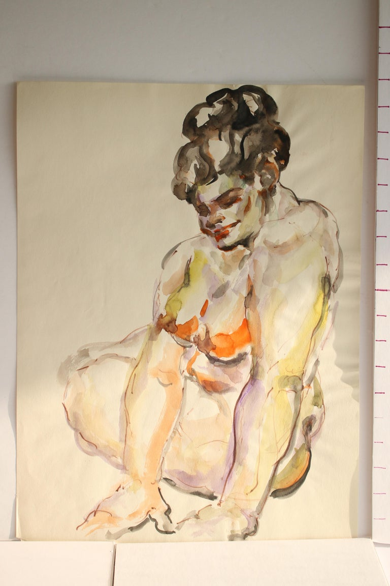 Untitled: Solo Seated Nude Twist For Sale 2