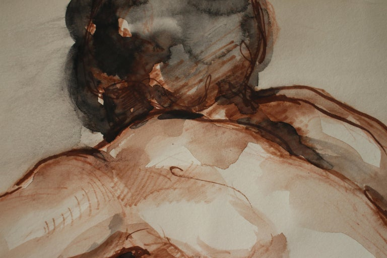 Untitled: Left Side Seated Nude  - Art by Unknown