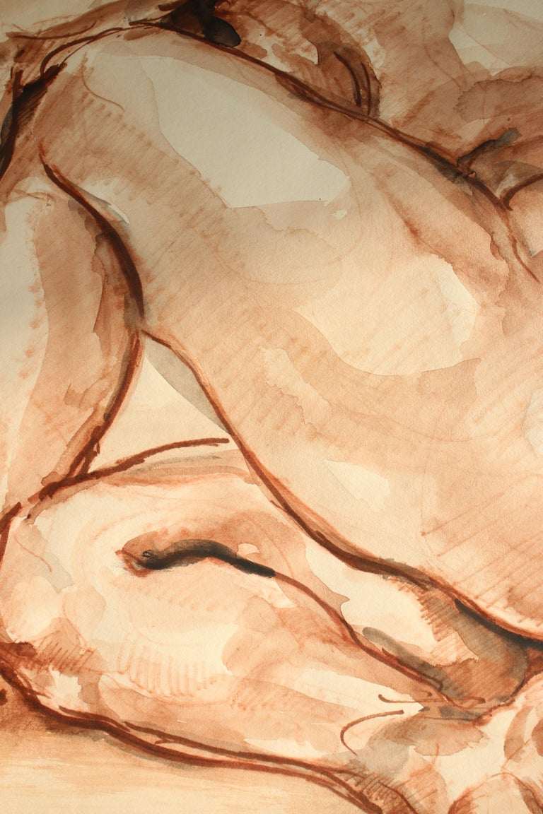 Untitled: Left Side Seated Nude  For Sale 1