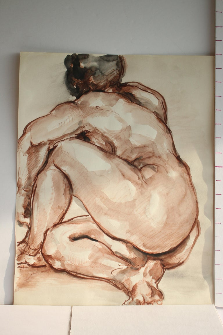 Untitled: Left Side Seated Nude  For Sale 3