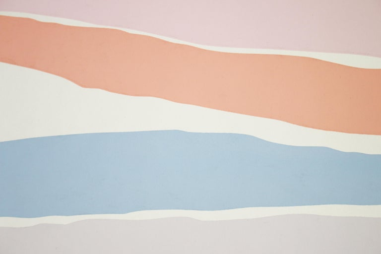 Untitled: Lavender, Blue & Pink Serigraph (Edition 303/350) For Sale 1