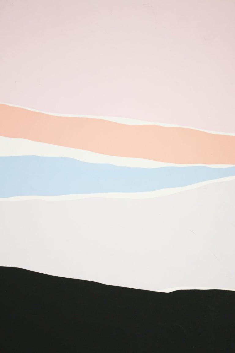 Untitled: Lavender, Blue & Pink Serigraph (Edition 303/350) For Sale 2