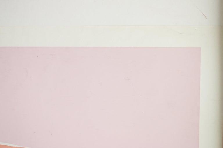 Untitled: Lavender, Blue & Pink Serigraph (Edition 303/350) For Sale 3