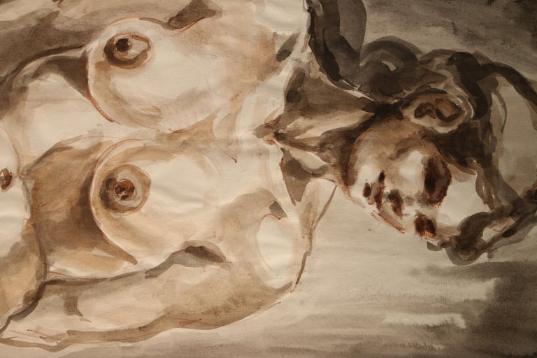 Untitled: Front Nude Watercolor - Art by Unknown