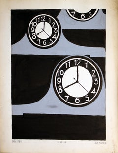 Untitled: Clocks 1 (2nd Year in Black)